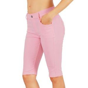 Jean Look Jeggings Tights Slim Fit Pull Up Pants